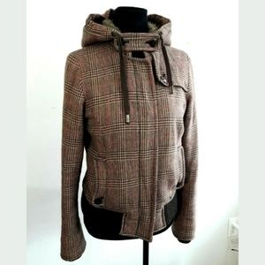 American Eagle Outfitters Brown Plaid Jacket Sz M